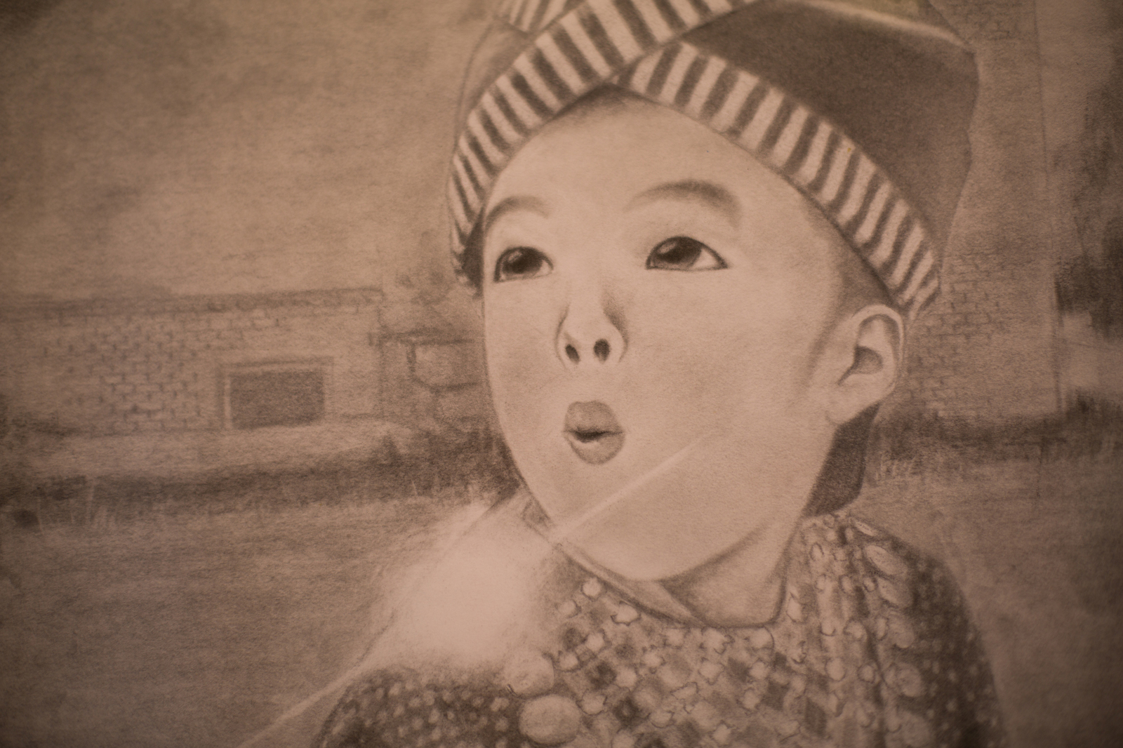 Artwork from Hmong exhibit at UC Merced's gallery